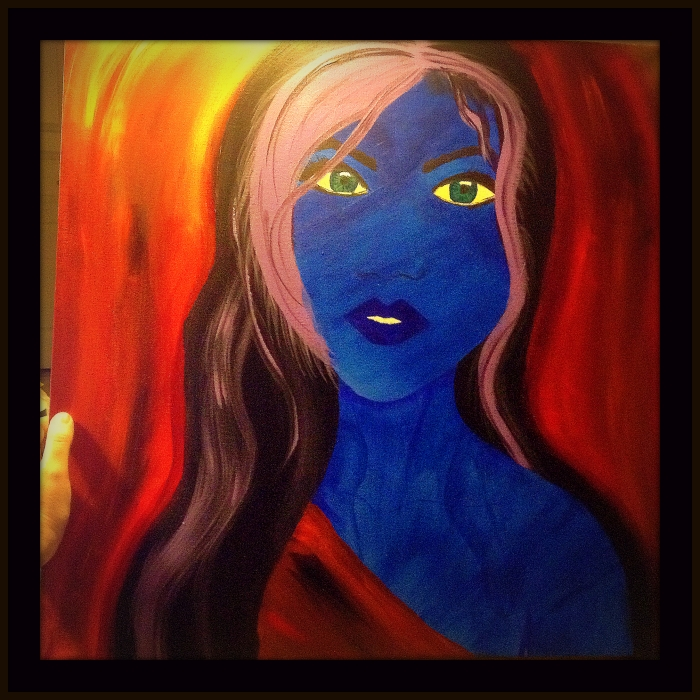 Woman in Blue by A. Joleigh ©2013 SOLD