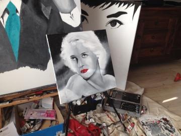 Bette Davis oil painting